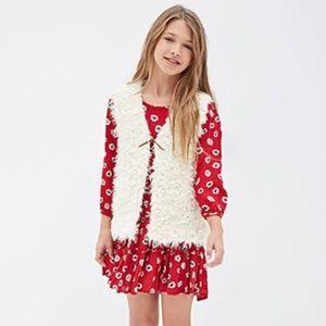 Forever 21 Girls Shearling Fur Vest